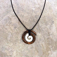 Adjustable Wood Bone Koru Black