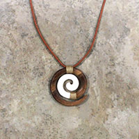 Adjustable Wood Bone Koru Brown