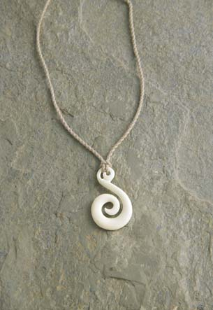 Twisted Cord, Bone - Koru