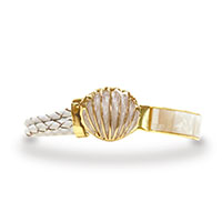 Leather Bracelets Scallop Shell