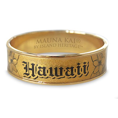 Hawaiian Bracelet, Hawaii Gold *