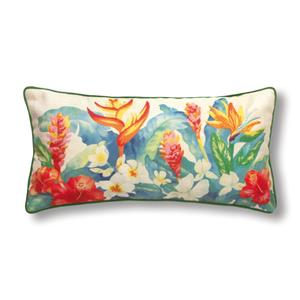 Island Garden Rectangle Pillow 10 X 20 Accent Pillow (Filled)