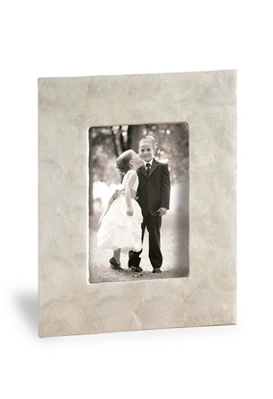 Photo Frame 4 x 6, Shell Natural