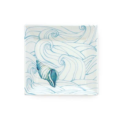 Lauren Roth Ceramic Mini Plate | Ocean