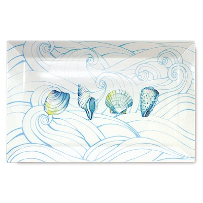 Lauren Roth Ceramic Serving Platter | Ocean