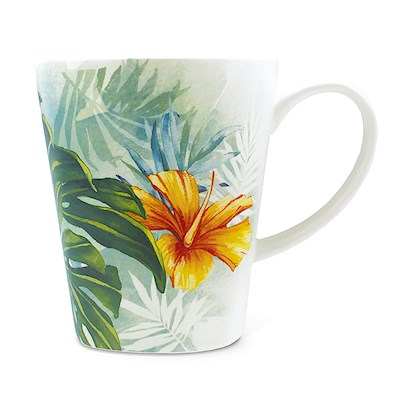 Lauren Roth Ceramic Mug | Tropical Garden