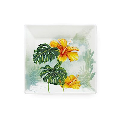 Lauren Roth Ceramic Mini Plate | Tropical Garden
