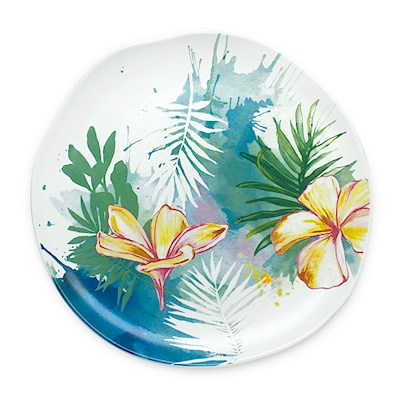 Lauren Roth Ceramic Salad Plate | Tropical Garden