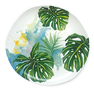 Lauren Roth Ceramic Dinner Plate | Tropical Garden