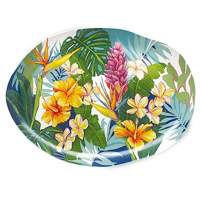 Lauren Roth Ceramic Serving Platter | Tropical Garden