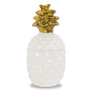 Porcelain Pearl White Pineapple Treasure Jar