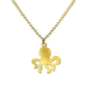Charm Necklace, Octopus - Gold