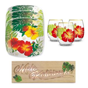 Floral Monstera Holiday Gift Set