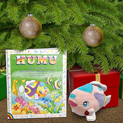Book & Plush Gift Set, Humu, the Little Fish who Wished Away His Colors