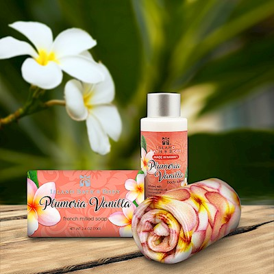 Plumeria Vanilla Island Bath & Body Mini Spa Gift Set