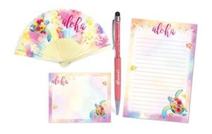 Watercolor Honu Desk Set