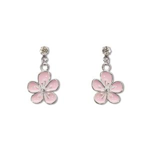 Charm Earrings 1-pr, Flower - Silver
