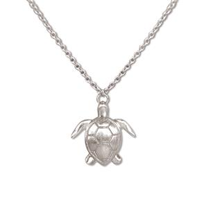 Charm Necklace, Honu - Silver
