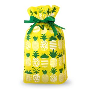 Large Pineapple Parade Everyday Drawstring Gift Bag