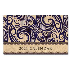 Tribal -Tan 2021 Pocket Calendar