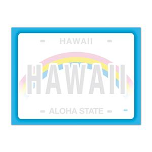 Rect. Aloha Stick'n Notes 50-sht, License Plate