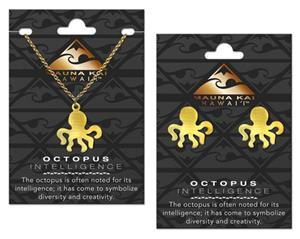 Octopus Gold Charm Earring & Necklace Set *