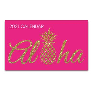 Aloha Pineapple - Pink 2021 Pocket Calendar