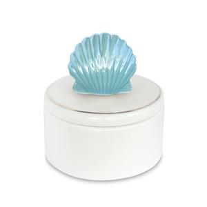 Porcelain Blue Shell Keepsake Box