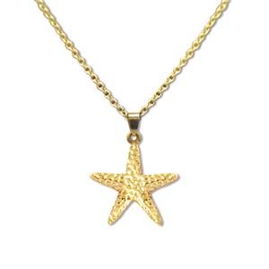 Charm Necklace, Starfish - Gold