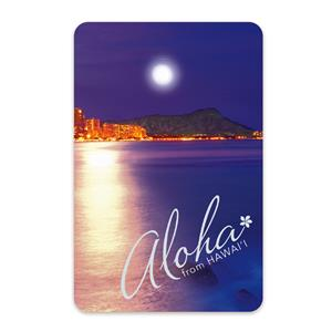 Moonrise Waikiki Playing Cards
