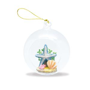Glass Globe Ornament, Starfish