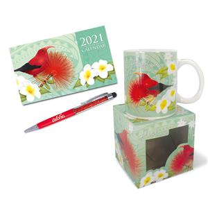 I'iwi & Floral Blossom Mini Desk Set