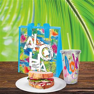 Aloha Tropical Tote & Tumbler Gift Set