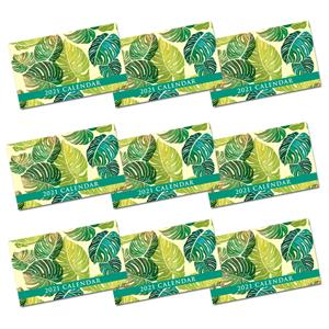 2021 Pocket Calendar, Monstera - Yellow (Case of 24)
