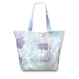 Deluxe Foldable Tote, Modern Hibiscus