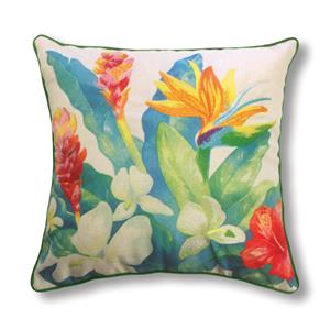 Island Garden Bird of Paradise 18 X 18 Accent Pillow (Filled)