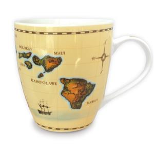 18 oz. U-shape Mug,- Islands of Hawaii - Tan -