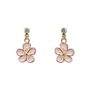 Charm Earrings 1-pr, Flower - Gold
