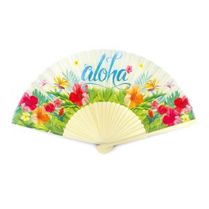 Aloha Floral Fabric Fan