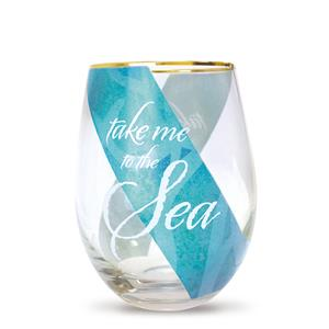 Take Me to the Sea Coastal Glassware