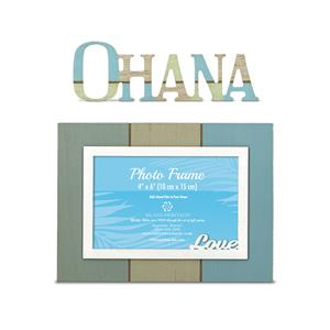 Hand Painted Wood Photo Frame Set - Love & Ohana