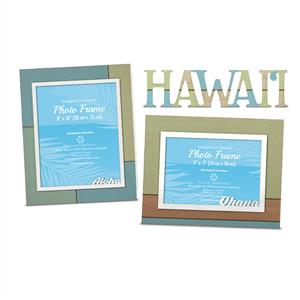 Hand Painted Wood Photo Frame Set - Aloha & Ohana